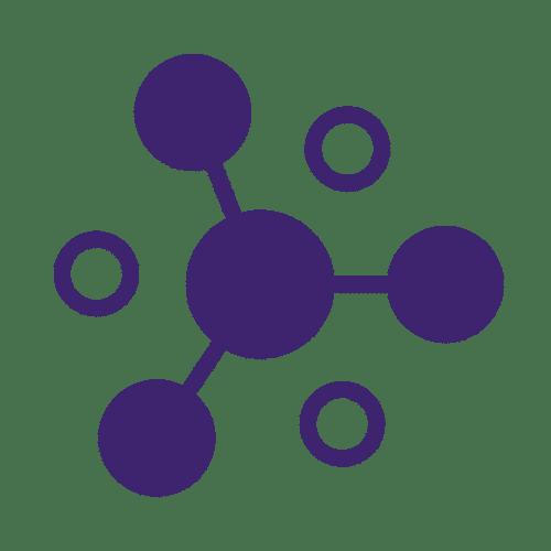 ícone de esferas interligadas