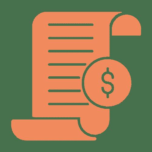 ícone de nota fiscal