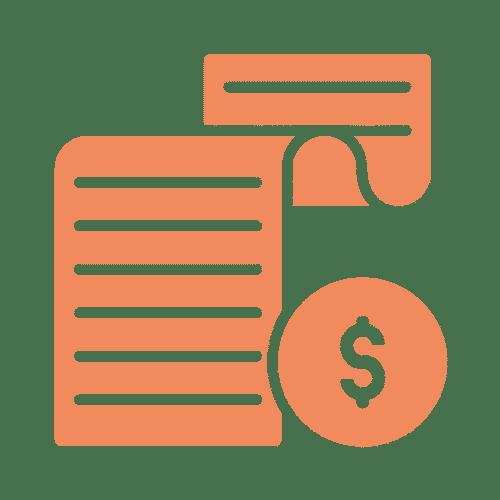 ícone de documento financeiro