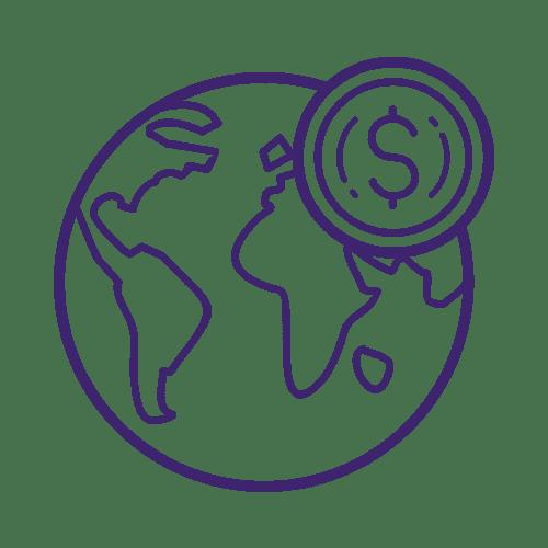 ícone do globo terrestre