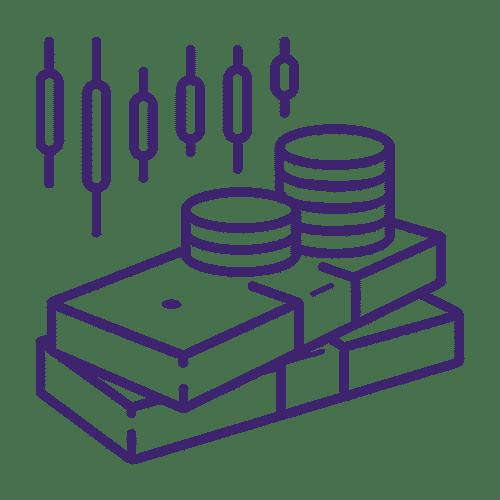 ícone de dinheiro e moeda
