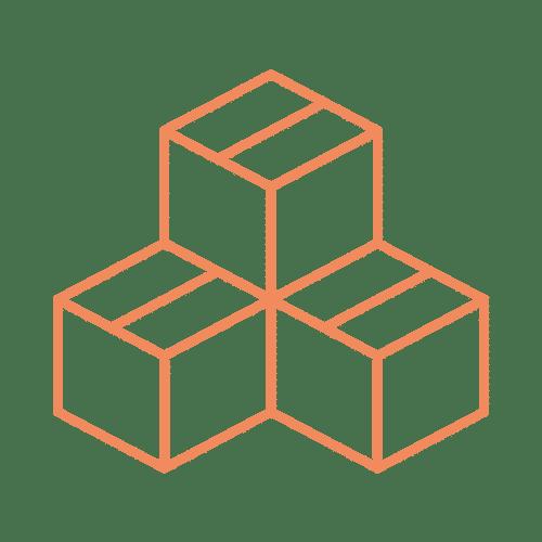 ícone de cubos