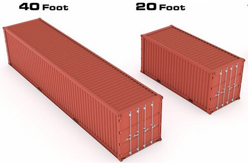tipos de container dry box 20 e 40