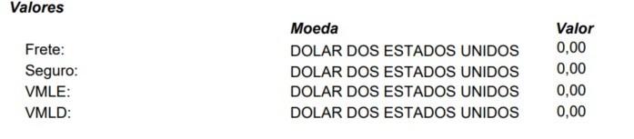 nota fiscal de importação vmld
